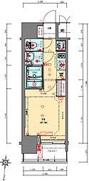 Osaka Metro千日前線 阿波座駅 徒歩5分の賃貸マンション 7階1Kの間取り