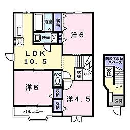 ブロードヒルV[2階]の間取り