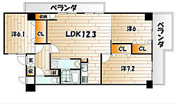 メゾンド・ファミーユ門司港[7階]の間取り
