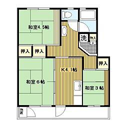 平塚田村[9-943号室]の間取り