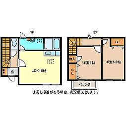 [タウンハウス] 長野県長野市大字風間 の賃貸【/】の間取り