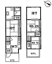 [一戸建] 京都府京都市南区久世大築町 の賃貸【/】の間取り