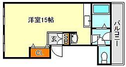 リフュージュ板宿[4階]の間取り