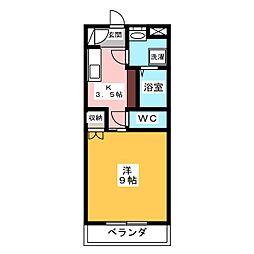 メゾンブローニュ 7[1階]の間取り