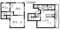 ソレイユ阿倍野[2階]の間取り