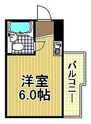 レアレア伝法27番館[4階]の間取り