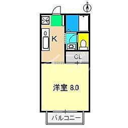 サニーメイト[2階]の間取り