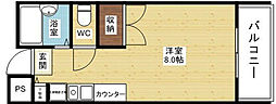 大阪府吹田市春日3丁目の賃貸マンションの間取り