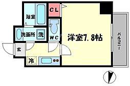 TOYOTOMI STAT PREMIUM 梅田III 6階1Kの間取り