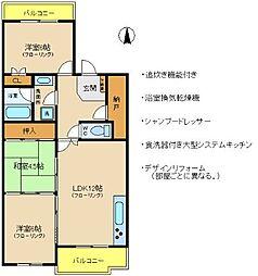 ルモンクレール枝吉[4階]の間取り