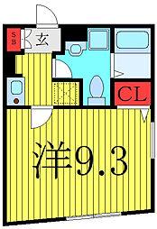 東京メトロ有楽町線 千川駅 徒歩7分の賃貸マンション 1階1Kの間取り