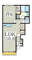 アンサンブルコートA棟[1階]の間取り