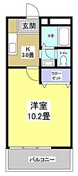 パーク・アトリエ[2階]の間取り