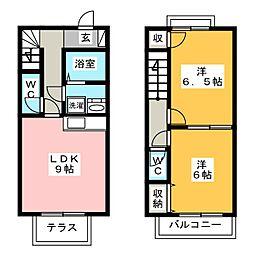 [テラスハウス] 静岡県浜松市西区大平台3丁目 の賃貸【静岡県 / 浜松市西区】の間取り