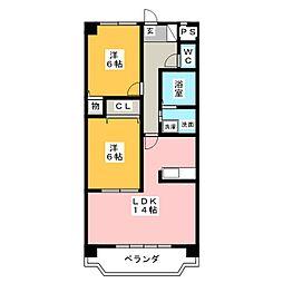 グランシャリオ[6階]の間取り