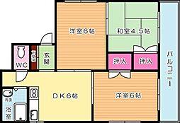 第一興産若戸ビル[202号室]の間取り