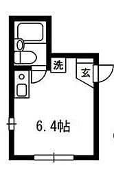 東京都大田区大森本町2の賃貸アパートの間取り