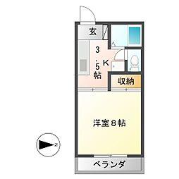 ペンギンズマンションII[3階]の間取り