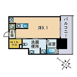 ANDON 5階ワンルームの間取り