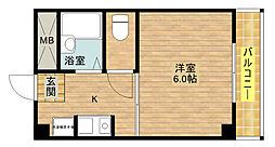 エクシード倉垣[4階]の間取り