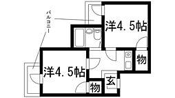 ドムス鉢塚[2階]の間取り