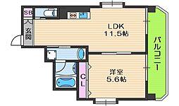 ラ・ファミリア山坂 3階1LDKの間取り