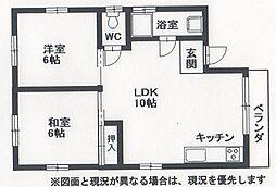 豊中市千成町住販ビル[3F号室]の間取り