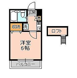 ジュネパレス松戸第506[203号室]の間取り