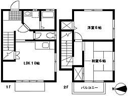 [テラスハウス] 神奈川県横浜市都筑区仲町台3丁目 の賃貸【/】の間取り