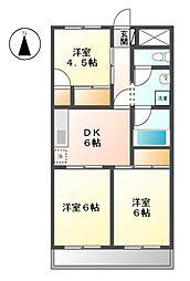 玉野屋コーポラス 11a[1階]の間取り