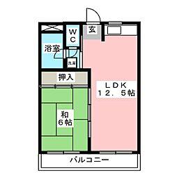 第1川崎ビル[4階]の間取り