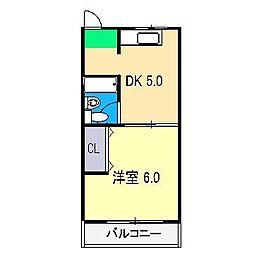 SAKURAハイツ[3階]の間取り