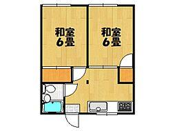 中嶋アパート[102号室]の間取り