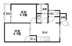 サニーサイドアップ[4階]の間取り