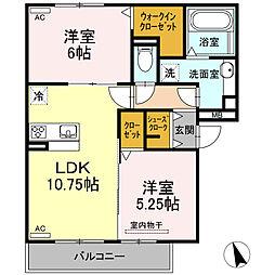 仮)D-room半田市大高町 A棟[205号室]の間取り