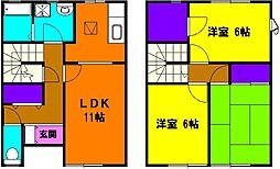 [一戸建] 静岡県浜松市東区天王町 の賃貸【/】の間取り