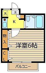 サンウィロー和光[3階]の間取り
