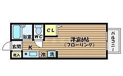 ドミール小野原[1階]の間取り
