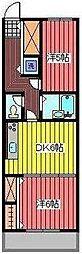 メープルコート中青木[3階]の間取り