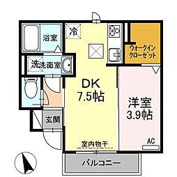 仮称)D-room岐阜市黒野[1階]の間取り