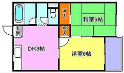田町マンション[3階]の間取り
