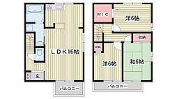 兵庫県神戸市西区伊川谷潤和の賃貸アパートの間取り