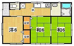 [一戸建] 茨城県日立市田尻町4丁目 の賃貸【茨城県 / 日立市】の間取り