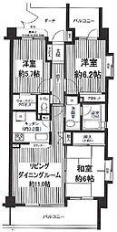 コスモ吉祥寺南ロイヤルガーデン[2階]の間取り