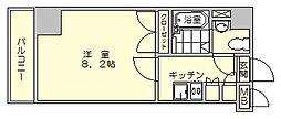 ダイナコートスタシオン博多[8階]の間取り