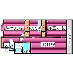 北海道札幌市東区北四十一条東1丁目の賃貸アパートの間取り