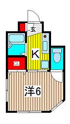 KKハイツ[2階]の間取り