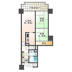 レバンテ垂水3番館[10階]の間取り