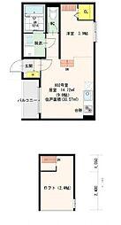 モメンタム志賀本通(モメンタムシガホンドウリ)[1階]の間取り