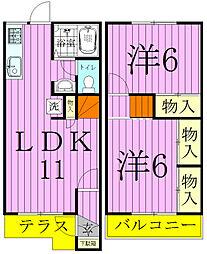 [タウンハウス] 千葉県松戸市五香4丁目 の賃貸【千葉県 / 松戸市】の間取り